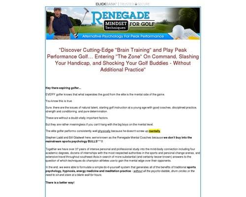 Renegade Mental Golf