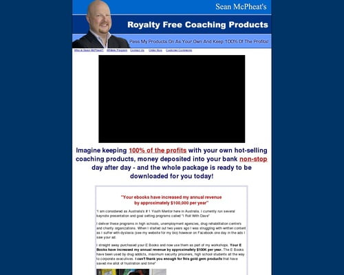 Royalty Free Coaching Products - You Keep 100% Of The Profits!