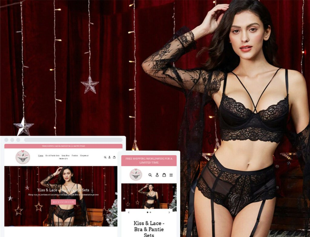 Shopify Dropshipping Sexy Lingerie Store/Website - Ready Made