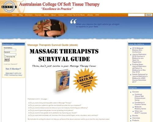 Soft Tissue Therapy » Massage Therapists Survival Guide (ebook)
