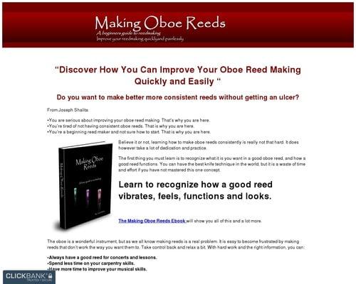 The Making Oboe Reeds Ebook