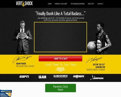 Vertical Jump Training: Vert Shock. Re-bill+upsell+insane Conversions