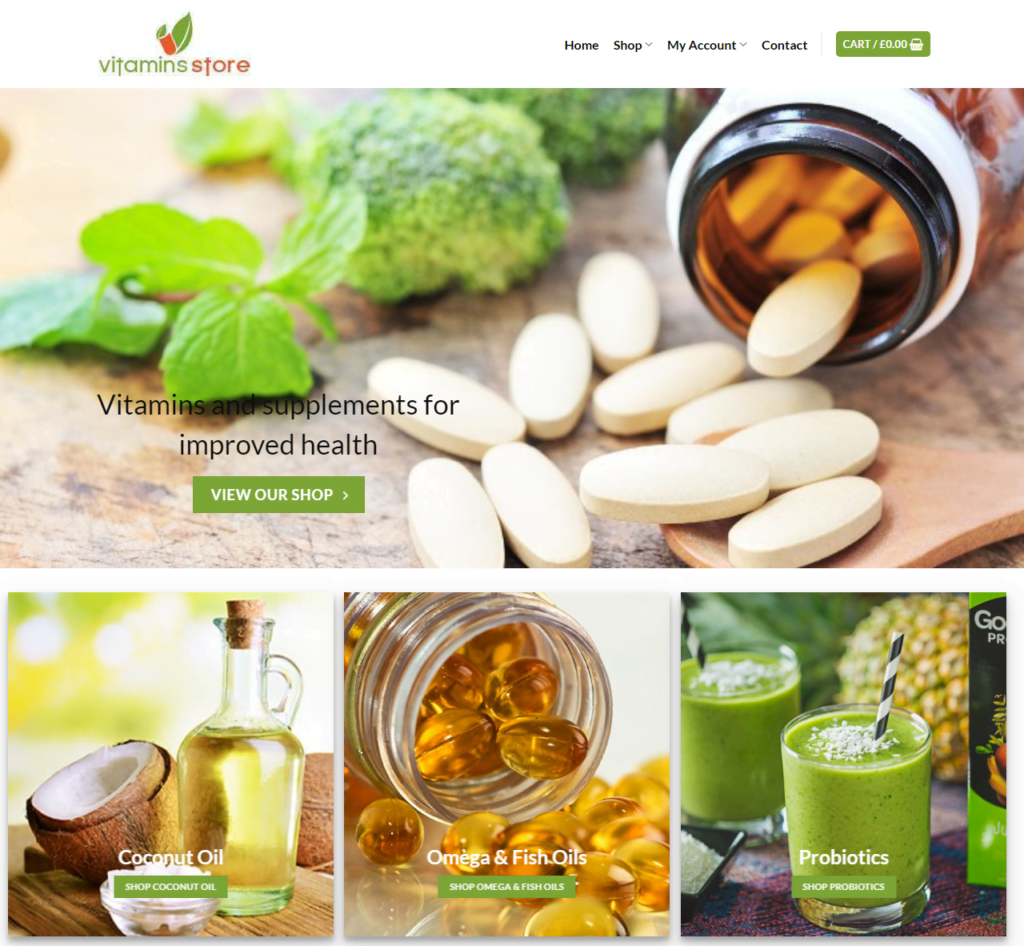Vitamin Store Website Business - Earn $186 A SALE. FREE Domain|Hosting|Traffic