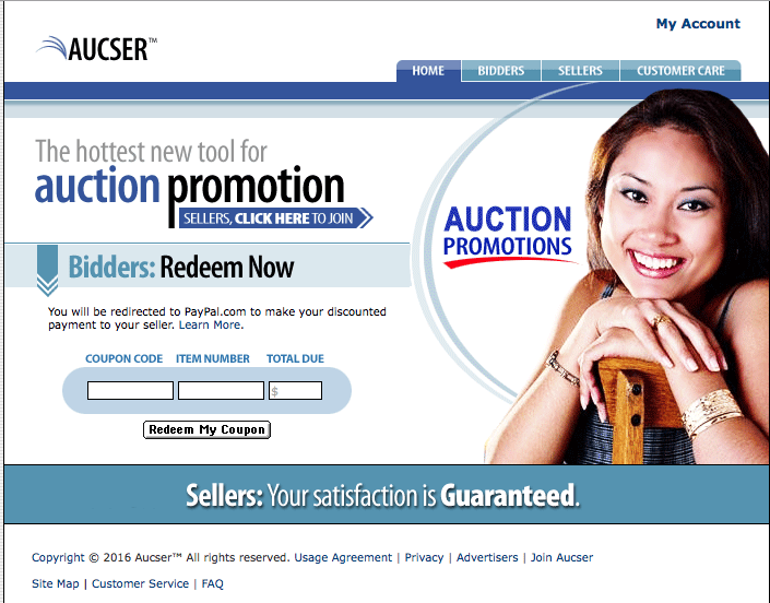 Website niche market Users Create Online Coupons for buyers & sellers Aucser.com