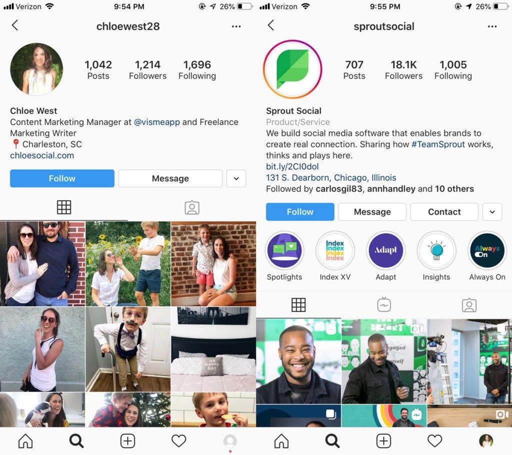 instagram business profile - instagram business vs personal