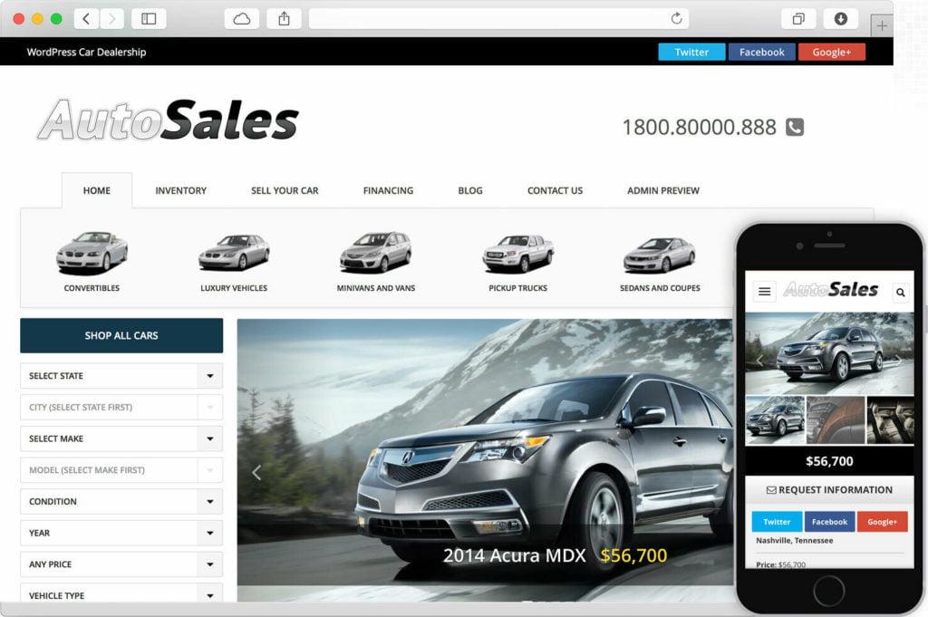 Wp Pro Responsive Car Dealer Website Web Design SEO Live Chat VIN Decoder Admin