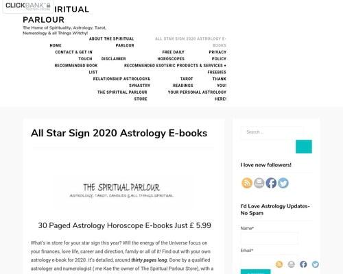 Astrology Horoscope E-books | The Spiritual Parlour
