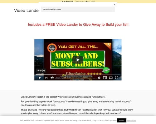 Free Video Landing Page Builder – StinsonWebHosting