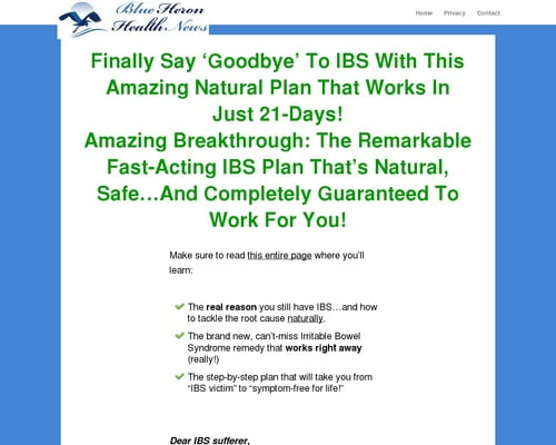 My IBS Story CB | Blue Heron Health News