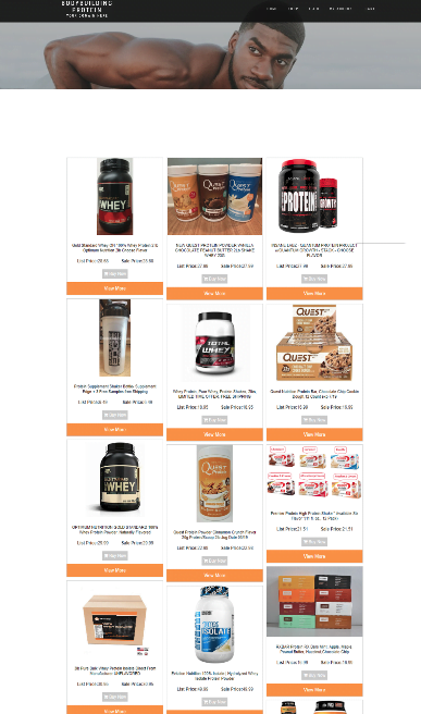 PROTEIN SUPPLEMENTS WEBSITE BUSINESS - FREE DOMAIN - HOSTING & SSL CERTIFICATE