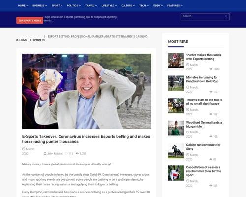 Punters.News | Esports betting makes punter 1,000's