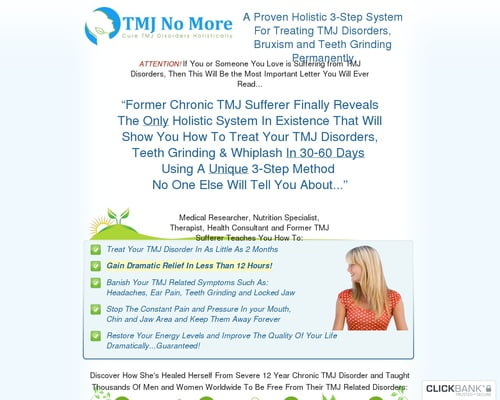 TMJ No More™ - Stop TMJ, Bruxism and Teeth Grinding Holistically