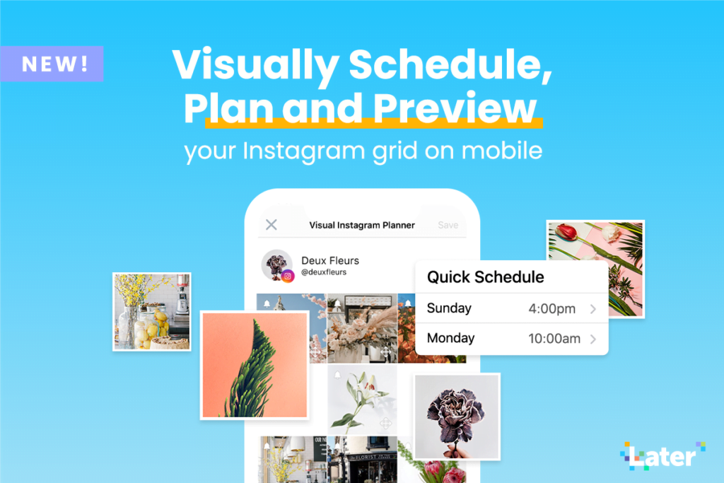 Visually Plan Your Feed On-the-go with Mobile Quick Schedule