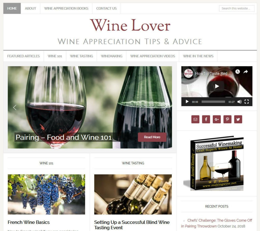* WINE LOVER'S * turnkey website business for sale w/ DAILY AUTO CONTENT UPDATES