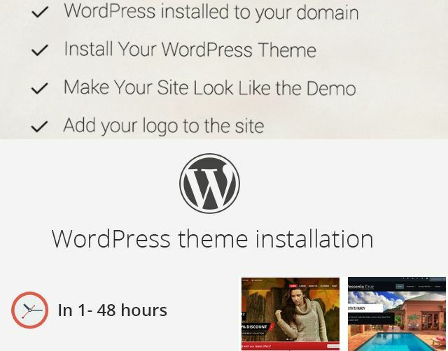 WordPress Theme Installation (Incl. Demo Content, Plugins) Install your website
