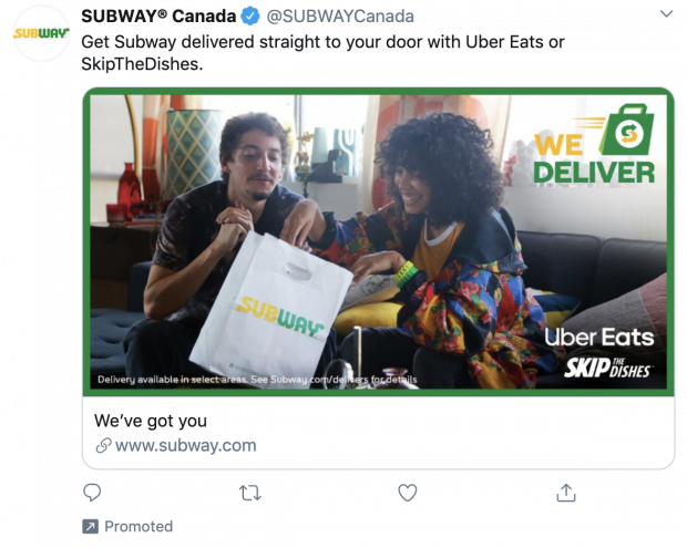 promoted tweet example