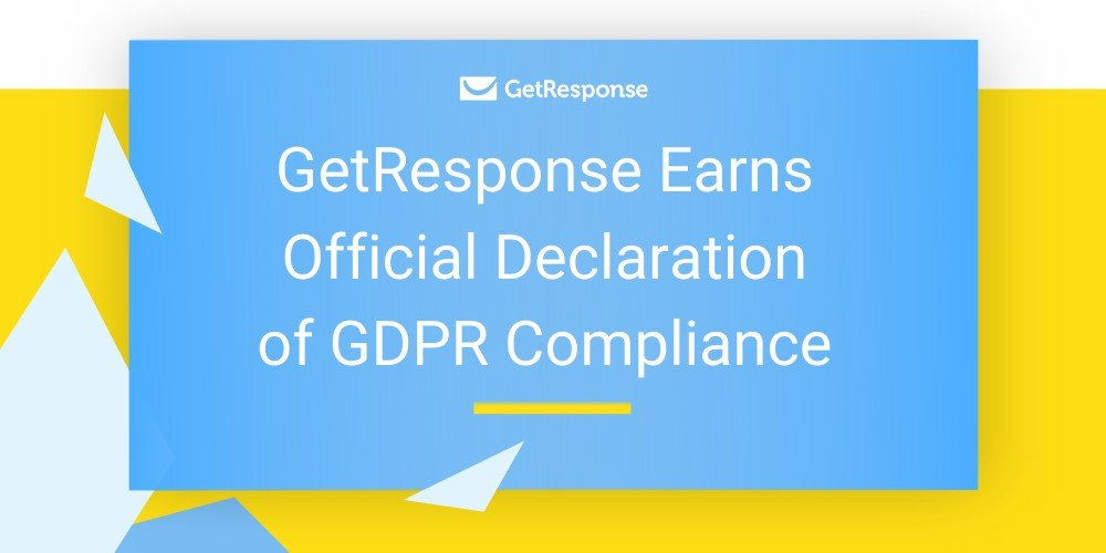 GetResponse Earns Official Declaration of GDPR Compliance