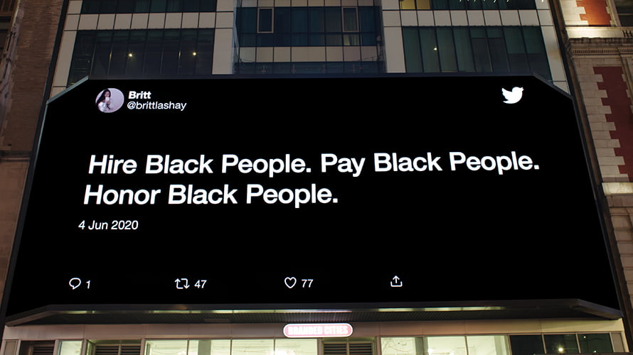 In Protest Cities, Twitter's Billboards Amplify Black Voices