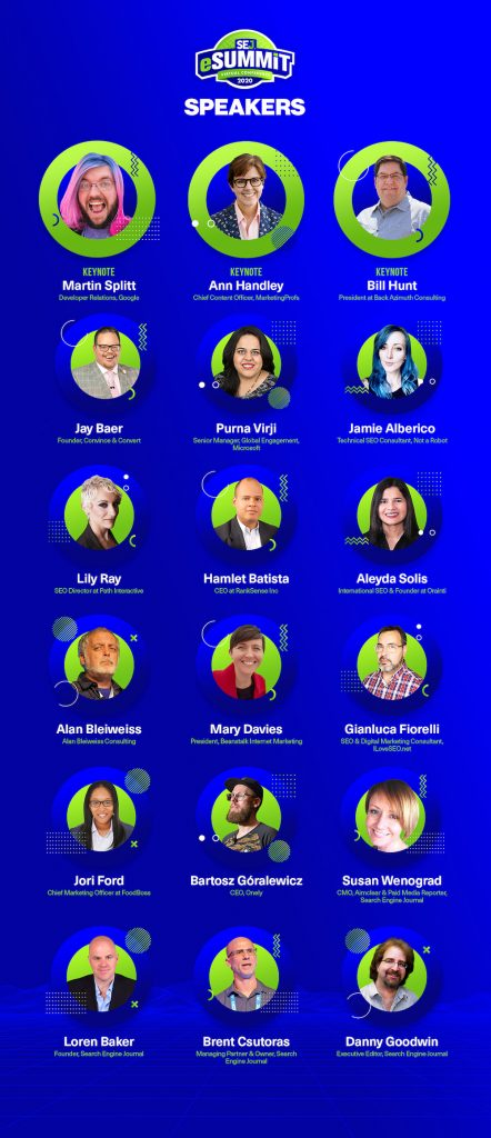 SEJ eSummit June 2020 Speakers