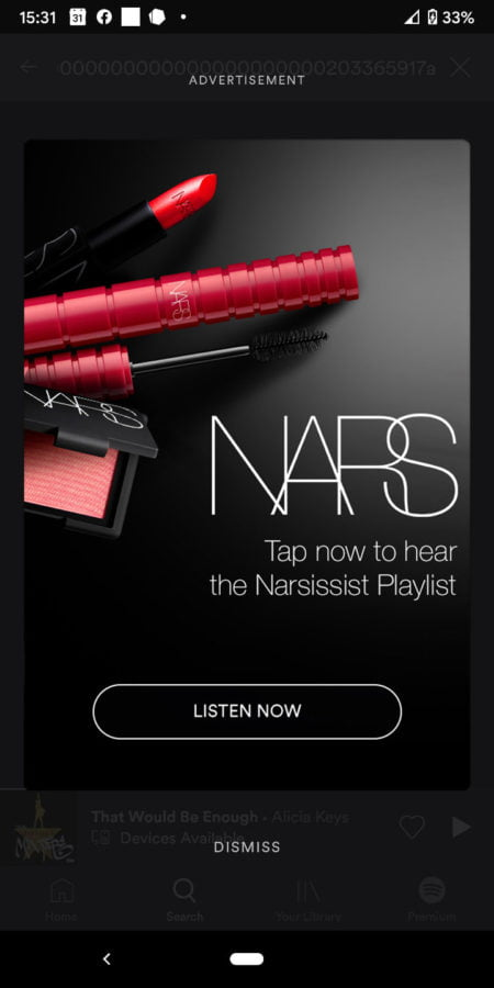 Spotify Teams Up With Cosmetics Brand Nars on Voice-Activated Campaign