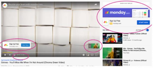 Monday.com YouTube ads