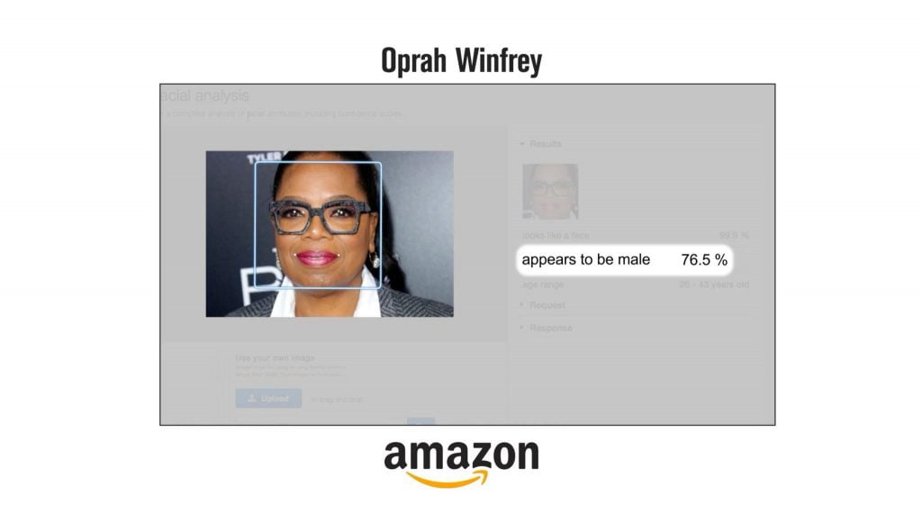 Oprah misclassified by face recognition