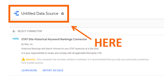 Reporting on Ranking Changes with STAT's Google Data Studio Connectors