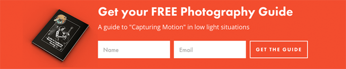 Example of a signup form for a free photography guide