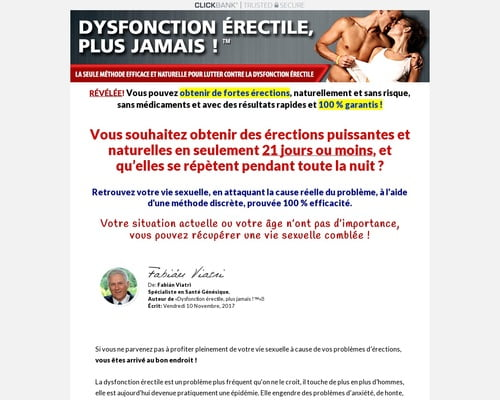 Dysfonction Erectile Plus Jamais. Ed Treatment French Version.