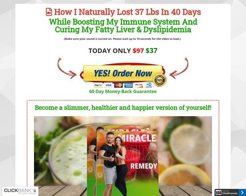 MiracleMix Remedy | How I Naturally Lost 37 Lbs In 40 Days