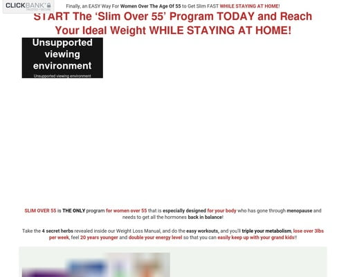 SLIM OVER 55 Program at 85% OFF